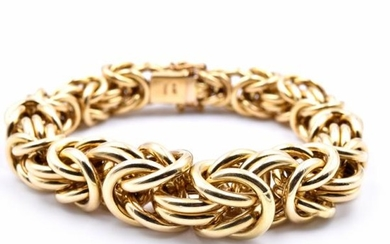 18k Yellow Gold Turkish Style Bracelet