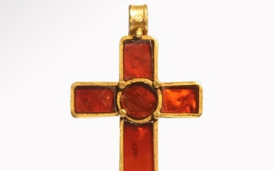 Medieval Gold and Garnet CloisonnŽ Cross, c. 7th-9th