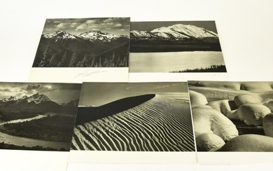 5 Pen & Pencil Signed Ansel Adams Photographs