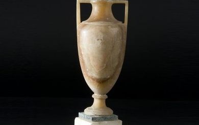 A 18th century alabaster small vase