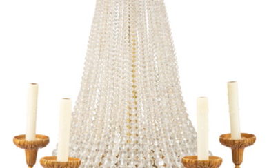 A Continental Gilt Bronze and Glass Chandelier (20th century)