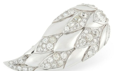 A DIAMOND BROOCH, SUZANNE BELPERRON in platinum and