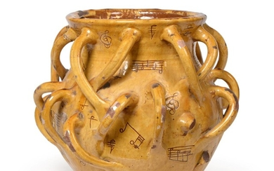 A Ewenny Slipware ''Musical Notation'' Wassail Bowl, 19th century, of...