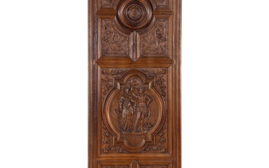A French Renaissance Revival Carved Walnut Panel