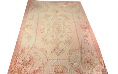 A French needlework carpet of Aubusson design