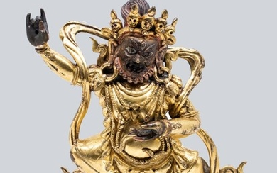 A Gilt Bronze Figurine of Buddhist Deity.