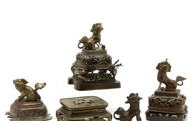A Group of Chinese Bronze Decorative Items