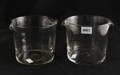 A PAIR OF 19TH CENTURY WINE GLASS RINSERS, LEONARD JOEL LOCAL DELIVERY SIZE: SMALL