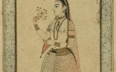 A PORTRAIT OF A MUGHAL LADY, INDIA, 19TH CENTURY