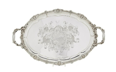 A Paul Storr sterling silver tray, 1814