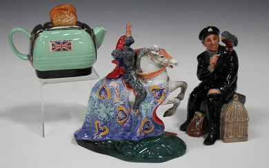 A Royal Doulton figure The Broken Lance, HN2041, height 20cm, together with another Doulton figure S