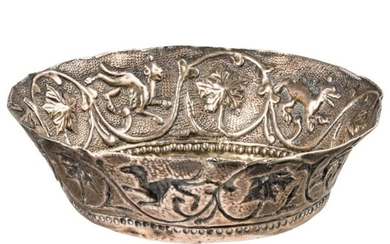A Venetian silver wine cup with raised decor, 16th century
