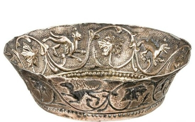 A Venetian silver wine cup with raised decor, 16th