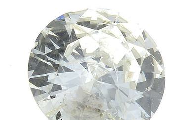 A brilliant-cut diamond, weighing 0.62ct.