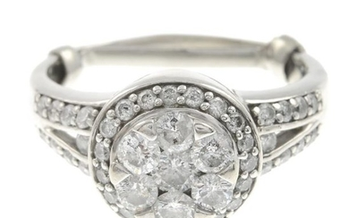 A diamond dress ring.Estimated total diamond weight 1.10cts,...