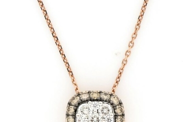 AIG Certificate - no reserve price - 18 kt. Pink gold - Necklace, Necklace with pendant - 1.16 ct Diamond