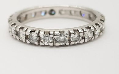 AIG Certified - 18 kt. White gold - Ring - 1.76 ct Diamond