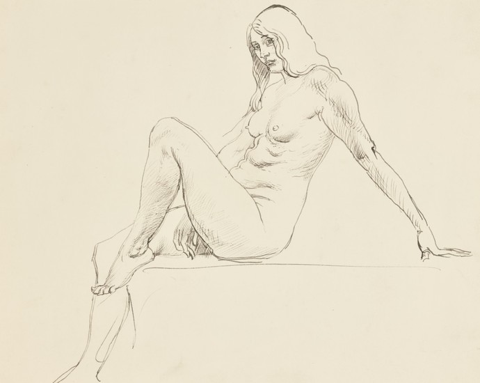 AUGUSTUS JOHN, R.A. | SEATED FEMALE NUDE