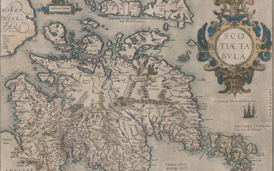 Abraham Ortelius Scotiae Tabula [Scotland Map]