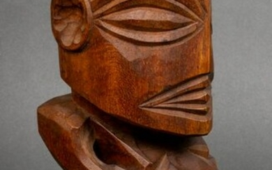 African Carved Wood Fertility Fetish Sculpture