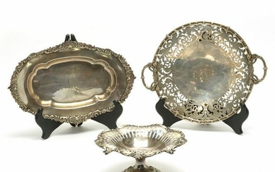 American East Coast Sterling Silver Table Articles, Two