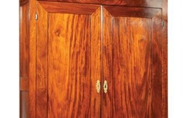 American Federal Figured Mahogany Armoire