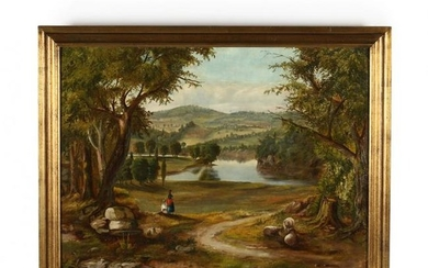 An American School Landscape Painting, 19th Century