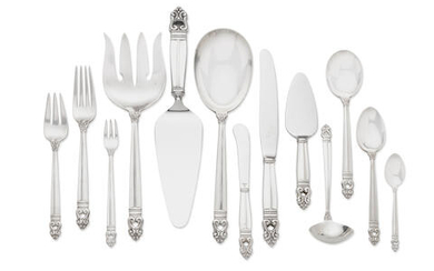 An American sterling silver partial flatware service