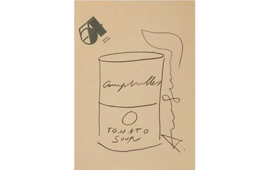 Andy Warhol (American, 1928-1987), 'Tomato Soup Can (Sketch)'