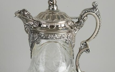 Beautiful pitcher with silver mounts, 835/000.&#160
