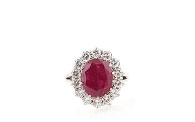 Brillant Rubin Ring