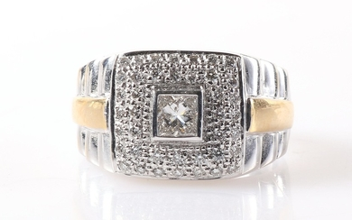 Brillant/Diamant Ring zus. ca. 0,65 ct
