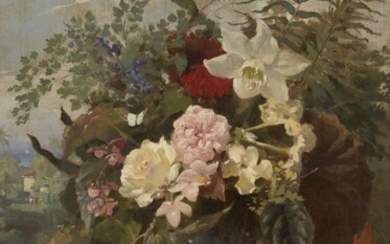 British School, mid-late 19th century- Floral still...