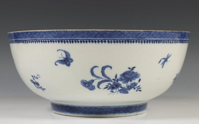 China, pair of blue and white porcelain bowls,...