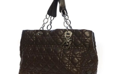 Christian Dior 'Lady Dior Rendezvous' Brown Leather Quilted Handbag, with...