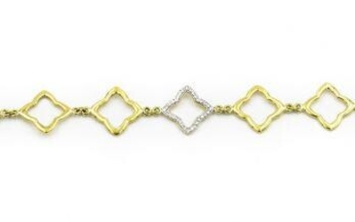 Contemporary David Yurman Yellow Gold and Diamond