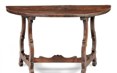 Demi-lune console table 17th-18th Century
