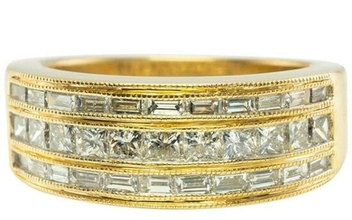 Diamond Ring 14K Gold Band 1.20 TDW
