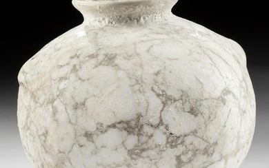 Egyptian Late Dynastic Alabaster Jar