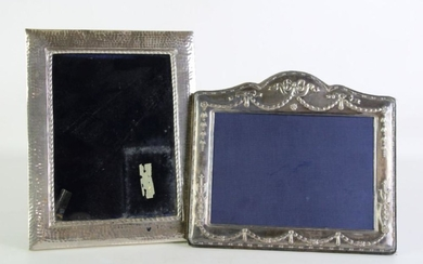 English Hallmarked Sterling Silver frame (W22cm x 19.5cm) together with a 925 silver example (H23cm x18.5cm)