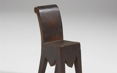 European School Doll's chair or whimsy, early 20th century...