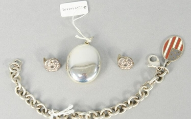 Four piece lot of Tiffany and Company sterling silver