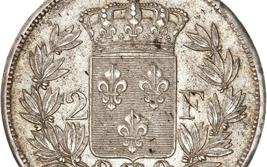 France - Charles X - 2 Francs 1828-W (Lille) - Silver