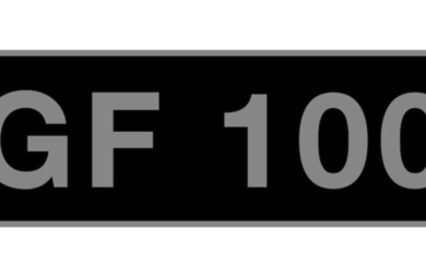 'GF 100' - UK vehicle registration number