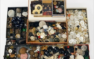 Group of Antique and Vintage Buttons.