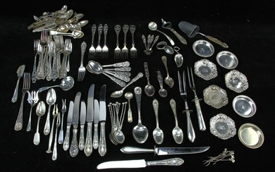 Group of Assorted Silver Pieces, Utensils