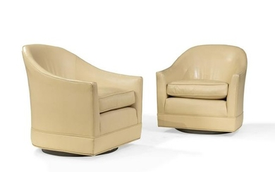 Harvey Probber - Leather Swivel Chairs