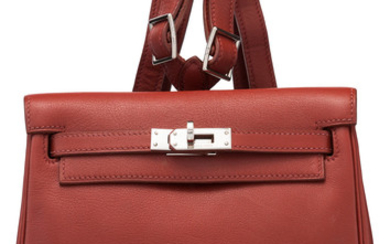 Hermès Brique Swift Leather Kelly Ado PM Backpack with...