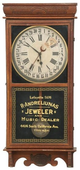 "Ingraham ""Western Union"" Advertising Wall Clock"