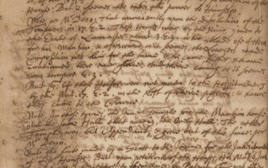 Inner Temple and Middle Temple.- [?Wallop (Richard, lawyer)] Concerning the Temples, manuscript, [c. 1680].